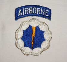 9th Airborne Division Patch With Tab Phantom Ghost Unit WWII US Army P2192