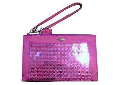 NWT Coach 49887 Occasion Sequin Party Clutch/Wristlet Mulberry msrp $148