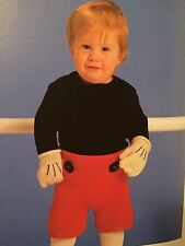 Disney Mickey Mouse Toddlers Suit And Mittens Knitting Pattern