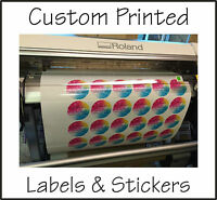 Custom Printed Vinyl Stickers design your own decals labels graphic sign address