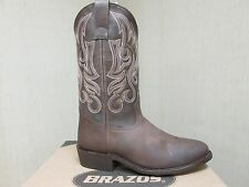 1996 New Men's Brazos Lasso Western Boots Brown 9M