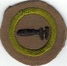 BOY SCOUT MACHINERY WIDE CRIMPED MERIT BADGE (TYPE B) MINT