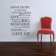 Have Hope Wall Art Quote Stickers Vinyl Decal Removable Mural DIY #1