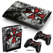 SuperSlim ps3 playstation 3 peau autocollants PVC pour console & 2 pads parapluie