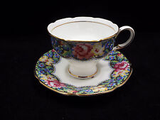 Paragon Fine Bone China Tea Cup & Saucer, Needlepoint Gingham Rose, England