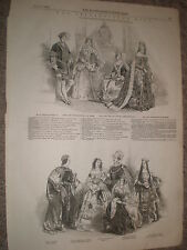 The Spitalfields (Costume) ball London 1848 old prints
