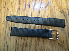 Lot 10 New Old Stock LeJour Sixty Watch Leather Bands -Black 16 MM Stripe