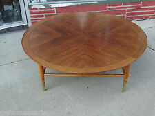 "Vintage Mid Century Modern Large 48"" Walnut Coffee table by Lane"