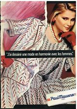 Publicité Advertising 1983 Pret à porter vetements femme Paul Mausner