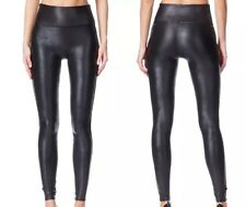 NEW SPANX READY TO WOW! 2437 SEXY FAUX LEATHER BLACK  LEGGING PANTS  size M