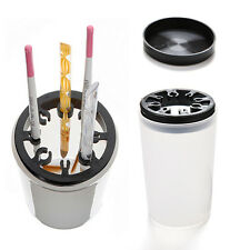 Nail Art Brush Cleaner Holder UV Acrylic Gel Pen Pot Cleanser Cup Bottle ToolSWU