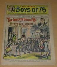 """THE LIBERTY BOYS OF """"76"""" 1  1901  DIME NOVEL CLUB REPRINT  1940'S  COMPLETE"""