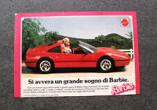 I425-Advertising Pubblicità- 1988 - MATTEL , BARBIE , LA FERRARI