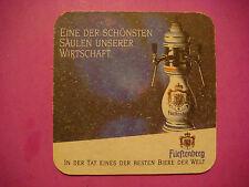 Beer Pub Coaster ~*~ Furstenberg Brewing Co Wirtschaft ~ Donaueschingen, Germany