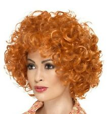 Mens Ladies Ginger Curly Wig Fancy Dress Ginger Afro type Wig Annie New