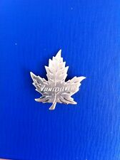 VANCOUVER STERLING SILVER MAPLE LEAF BROOCH - Maker BM Co.