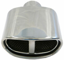 "Muffler Tip Exhaust Tail Pipe Chrome Euro Design ID: 2.25"" OD: 2-5"" Length: 7"""