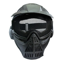 1X Full Face Mask CS Game Archery Outdoor Airsoft Paintball Mesh Goggles Black