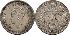 1/2 Rupee 1917 British India George VI., 1936-1952 #Z352