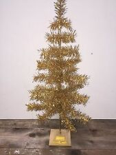 "SHINY GOLD CHRISTMAS FEATHER TREE TINSEL TABLETOP 36"" Holidays Handmade"