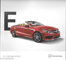 2015 15  Mercedes Benz E  Class Coupe  Original  brochure