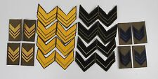 ASSORTED LOT OF ITALY ITALIAN ARMY RANK SLIDES & CHEVRONS / BADGES