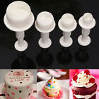 4pcs Round Circle Cake Plunger Cutter Mold Cookie Biscuit Sugarcraft Mould Decor