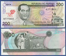 PHILIPPINEN / PHILIPPINES 200 Piso 2011 University UNC  P.NEW