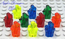 NEW Lego Lot/10 ROCK CRYSTALS Jewels Trans Green Orange Red Blue Treasure Set