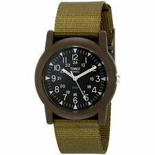 Timex Unisex Water Resistant Olive Green T41711 Strap Khaki Camper Analog Watch
