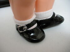 Fits 15  Inch Tiny Tears  Doll....Black Mary Janes Shoes...D822
