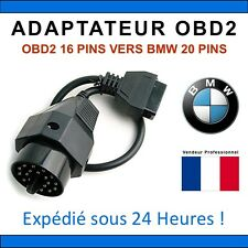 Adaptateur connecteur diagnostic CABLE OBD2 20 broches VERS 16 pin Interface BMW