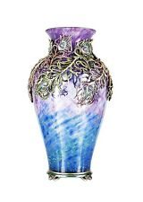"JAY STRONGWATER GRAND PEACOCK SIMONE 22"" TALL VASE SWAROVSKI MADE IN USA NEW BOX"