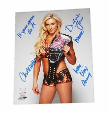 WWE CHARLOTTE HAND SIGNED AUTOGRAPHED 8X10 PHOTO FILE PHOTO INSCRIBED W/PROOF 2