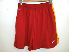 Nike Dri-Fit Men's Red w/Yellow Stripes Athletic Basketball, Sports Shorts S