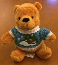 Disney Small Winnie The Pooh Plush With Winter Sweater 6""