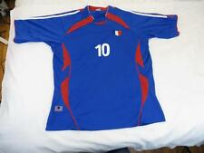 Great Mens Sweet France #10 Zidane? Soccer Futbol Athletic Jersey Shirt Sz XL