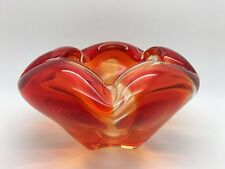 Murano Orange Coloured glass bowl
