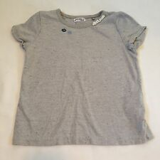NEXT grey speckled floral t-shirt top  Baby girls clothes 18-24 Months