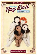 Heirloom Rag Doll Body Kit - Cream calico/Black hair  - To make 54cm Rag Doll