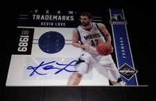 2011-12 Limited Team Trademarks Kevin Love Jersey Autograph Card #/25 Auto RARE