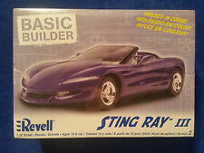 Revell Sting Ray III 1:25 Scale Model Car New in Box Purple - Basic Builder