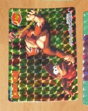 SUPER DONKEY KONG CARDDASS CARD PRISM CARTE 3 NITENDO MADE IN JAPAN 1995 **