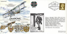 GW8 RAF Cover Great War 1995 WWI WW1 Limanowa Dec 1914 Great War RAF flown cover