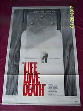 Claude Lelouch's LIFE LOVE DEATH /Amidou/1969 One Sheet MOVIE POSTER