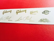 Gibson LP Vintage Style Guitar Waterslide Decal Set Gold Metallic INKS plus xtra