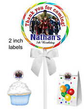 40 AVENGERS BIRTHDAY PARTY FAVORS LOLLIPOP STICKERS ~ for goody bags, seals,