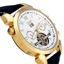 Jaragar H057M Male Automatic Mechanical watch with Date Function Tourbillon Genu