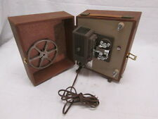 Vintage Keystone Sixty 8mm Projector In Carrying Case Works Case & Pickup Reel