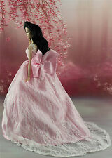 Pink Fashion Royalty Princess Party Dress/Clothes Gown For Barbie Doll S157U